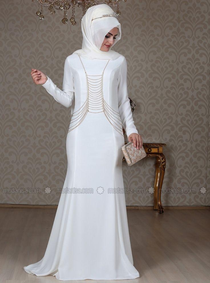 Ekru Zincirli Abiye Elbise - https://www.ehlitesettur.com/tesettur-abiye-elbise?utm_source=pinterest&utm_medium=cpc_pinterest&utm_content=tesettur-abiye-elbise&utm_campaign=pinterest_post