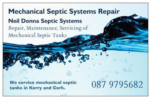 Mechanical Septic Tank Repair Business Card