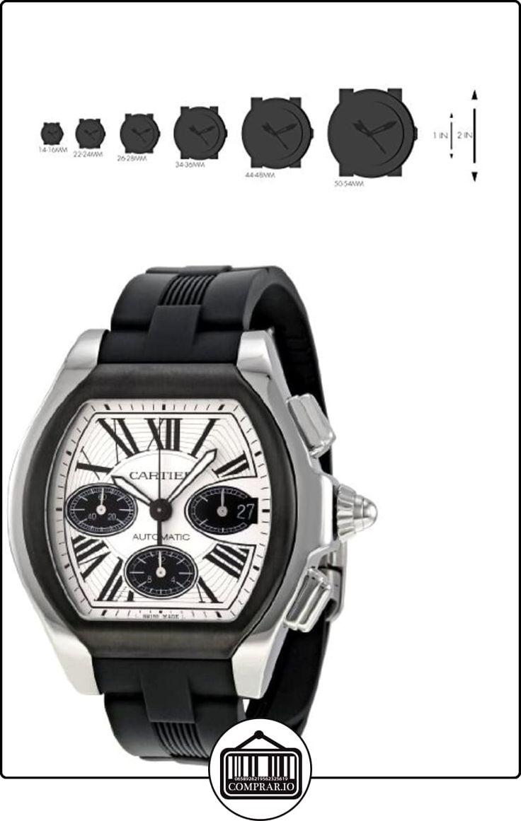 Cartier W6206020 - Reloj de pulsera hombre, caucho, color negro  ✿ Relojes para hombre - (Lujo) ✿