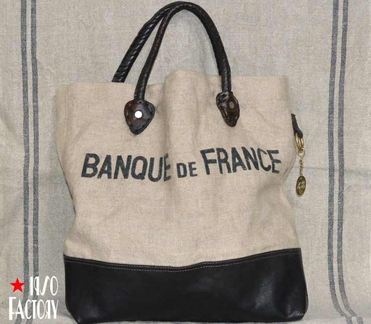 Sac Tote Banque de France 1, made by Catherine Delli