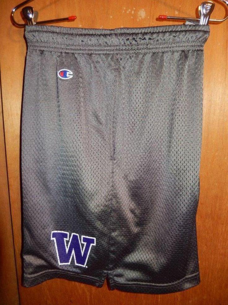 Washington Huskies Shorts UW Champion XL Gray NCAA Rare Basketball Football #Champion #WashingtonHuskies