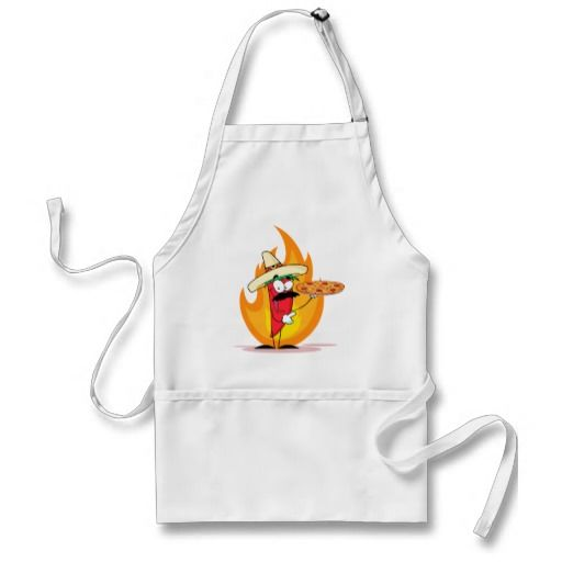 Sombrero Chile Chili Pepper Holds Up Pizza Apron