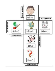 questions for comprehension cubes, informative reading - Google Search