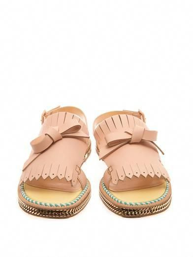christian louboutin costa nada fringe front sandals so beautiful rh pinterest com