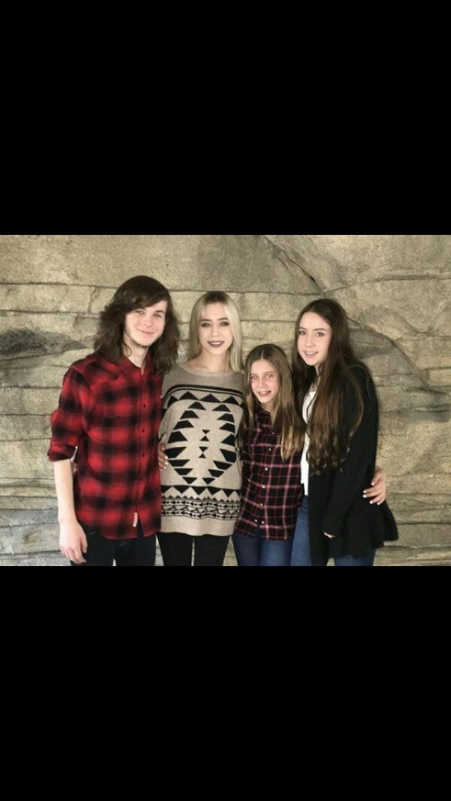 Chandler riggs and brianna maphis and her sisters