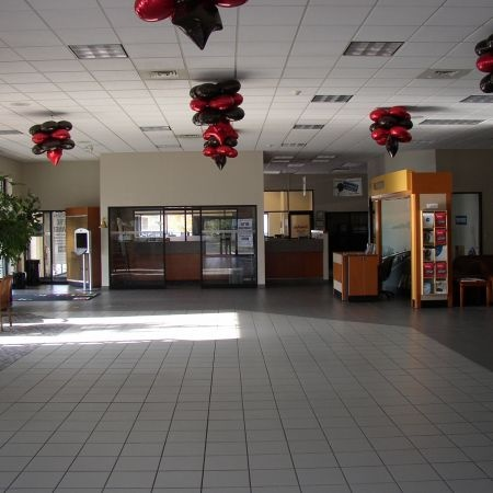 Existing Saturn showroom pre-construction.