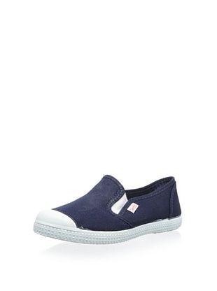 50% OFF Cienta Kid's Slip-On Sneaker (Marino)