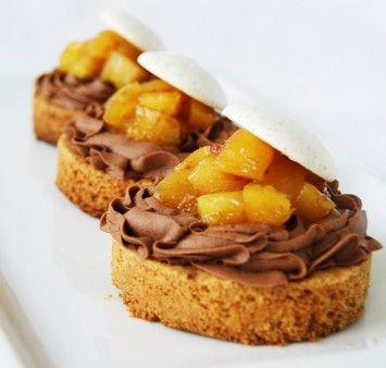 Recette tartelettes passion chocolat & ananas rôti, cuisinez tartelettes passion chocolat & ananas rôti