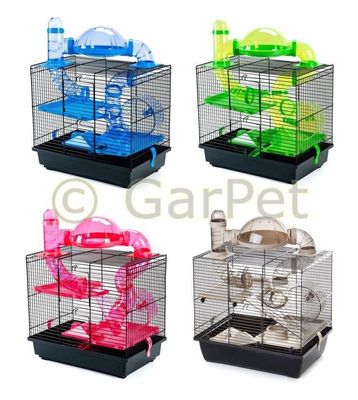 Komplett Hamsterkäfig inkl. Rohrsystem Käfig Nagerkäfig Mäusekäfig Zwerghamster