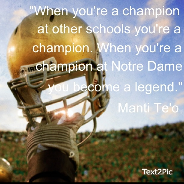 Manti Te'o to Recruits..Go Irish! Like the Irish? Be sure to check out and…