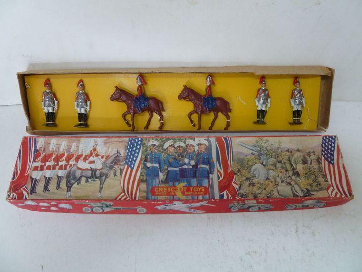VINTAGE CRESCENT TOYS LEAD SOLDIER & HORSES SET BOXED  in Toys, Hobbies, Vintage, Antique Toys, Games, Other Vintage Toys | eBay!