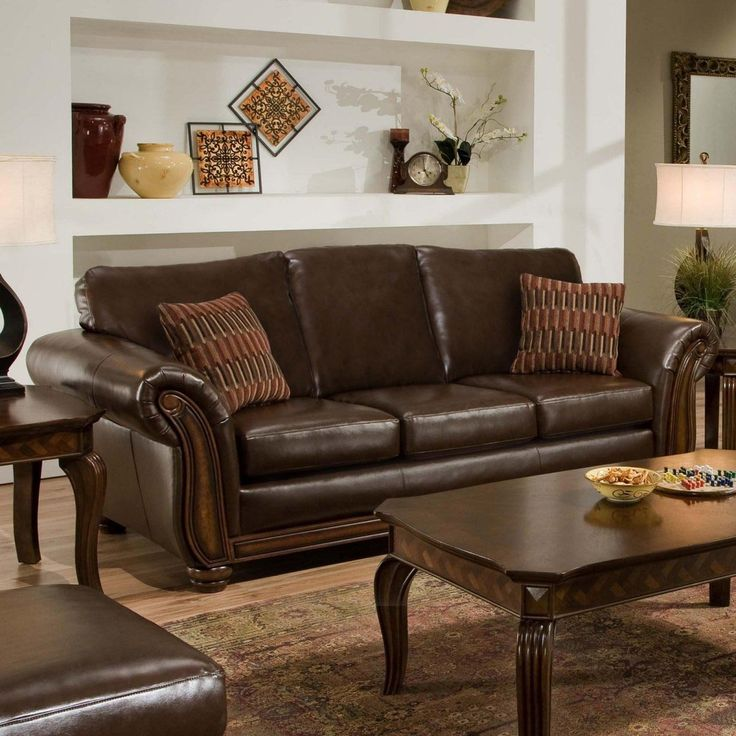Accent Pillows Brown Leather Sofa