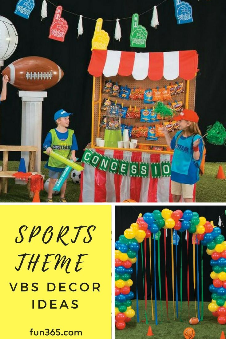 Your Sports Themed Vbs Needs These Diy Decor Ideas So Fun And Easy To Make Decorations Will Add The Fellowship Of Summer