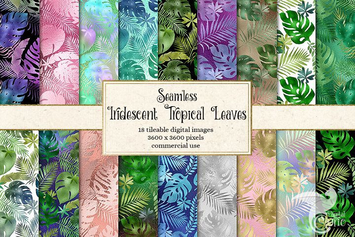 Iridescent Tropical Leaf Patterns | Tropical leaves ...