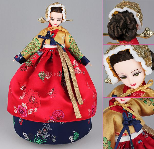 Korean Doll Wearing #Hanbok