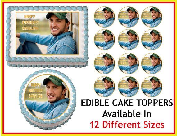 LUKE BRYAN Edible Cake Image Cupcake Topper by EdibleImageDesigns, $8.25