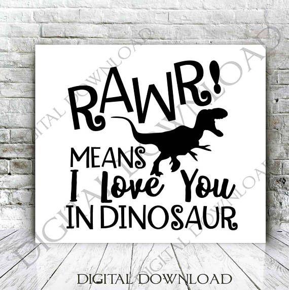 Download Rawr means I love you in dinosaur Vector Download Digital ...