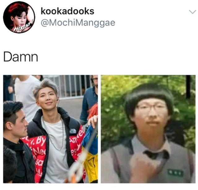 Namjoon on the right ain't ugly he's just predebut