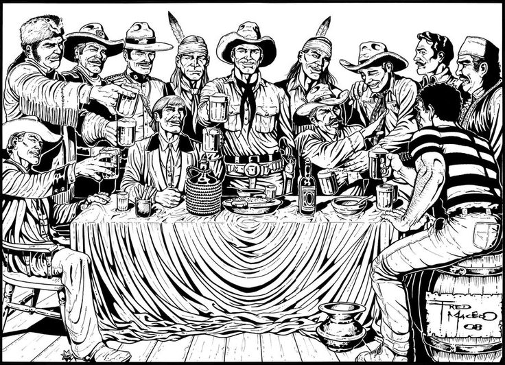 Tex Willer and friends. by fredmacedohq