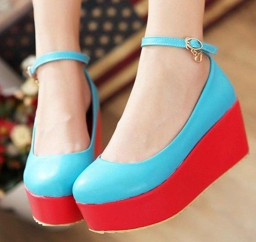Kode : AWF-368, Nama : Simple 2 Warna Platform Wedges, Price : IDR 175