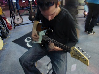 Me playing a Line6 guitar