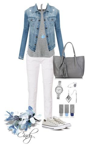 Spring Summer by cindy32tn on Polyvore featuring rag bone, LE3NO, Converse, Nadia Minkoff, Michael Kors, Witchery, Spring Street, Phillip Gavriel and Burberry