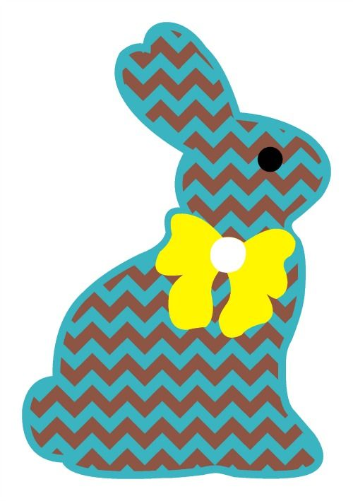 Chevron Chocolate Easter Bunny Svg Svg S And More