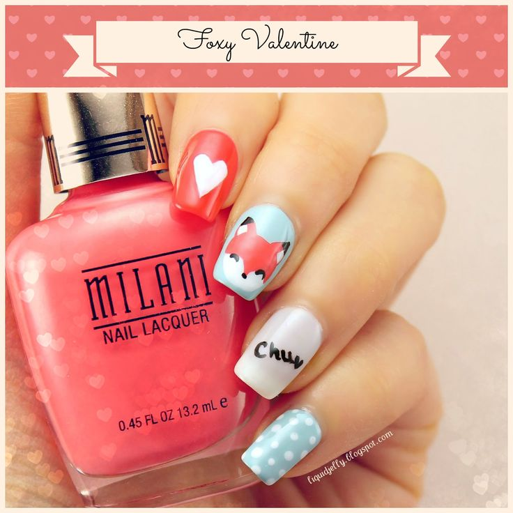 [Nail Art] Foxy Valentine - Liquid Jelly