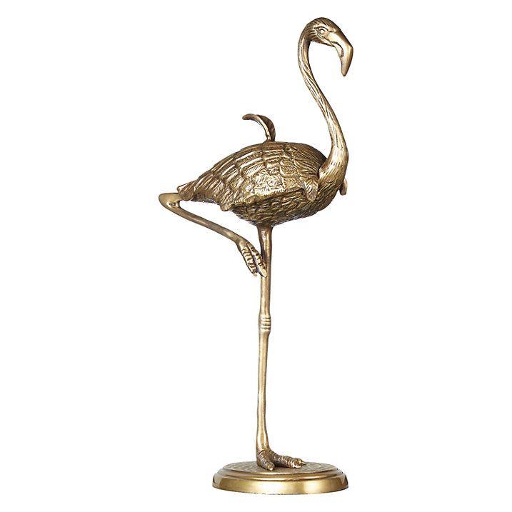 Buy John Lewis Brass Flamingo Box Online at johnlewis.com