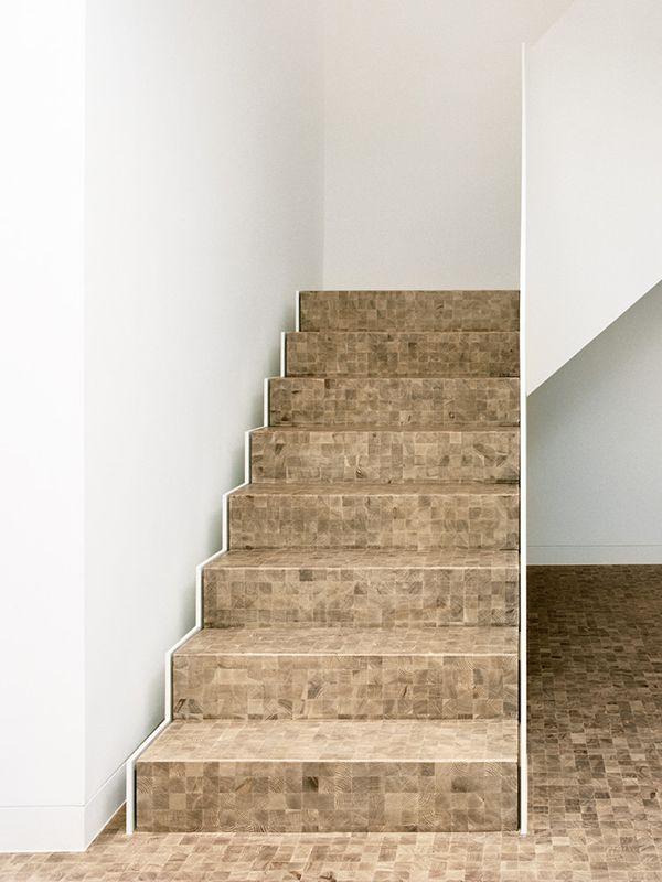 Timber floors & Stairs   Domino Larch Brushed White Oil   Art Gallery   mafi walk on art