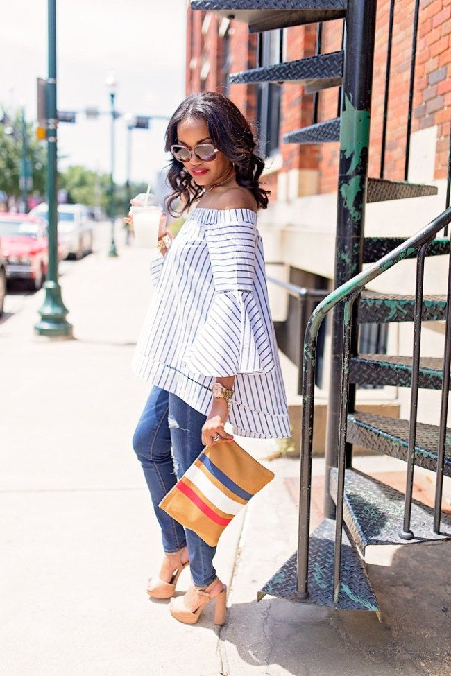dd2ee76ad0e Date Night Outfit featuring Off Shoulder Bell Sleeve Top with SheIn ...