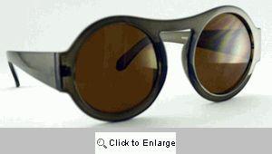 Riley Big Round Retro Sunglasses - 321 Taupe