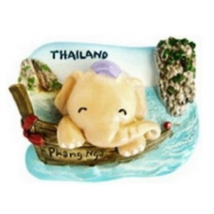 Phang Nga Jame Bond Island Krabi Tour Funny Beach of Thailand with Cute Cartoon Elephant Souvenir Happy 3D High Quality Resin 3D fridge Refrigerator Thai Magnet Hand Made Craft        . Free Shipping Check Price >> http://www.amazon.com/Thailand-Refrigerator-Thai-Magnet-Craft/dp/B00A751OZS