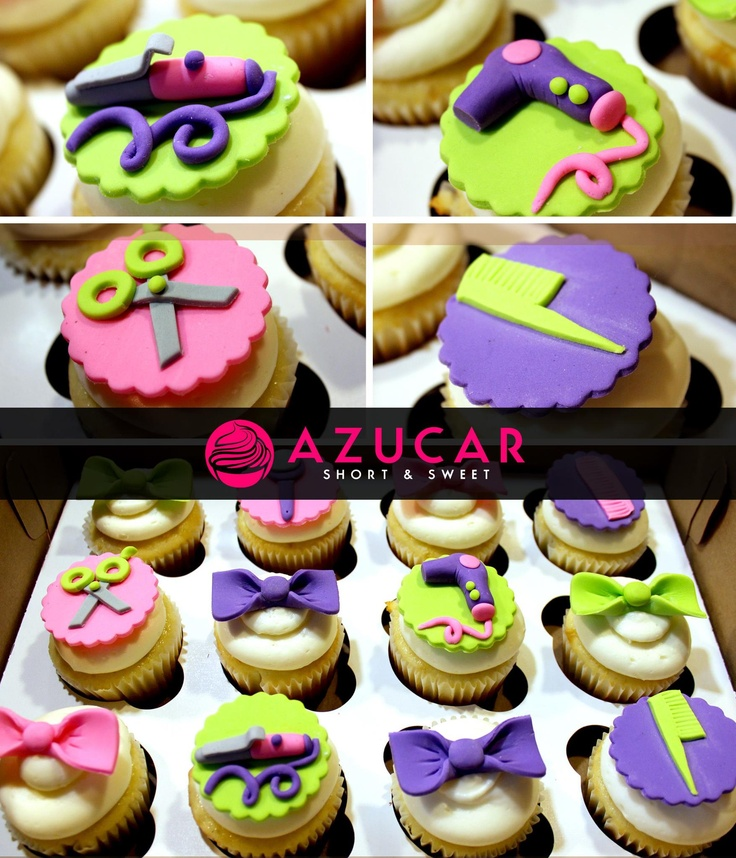 Hair Stylist themed cupcakes  www.gotazucar.com