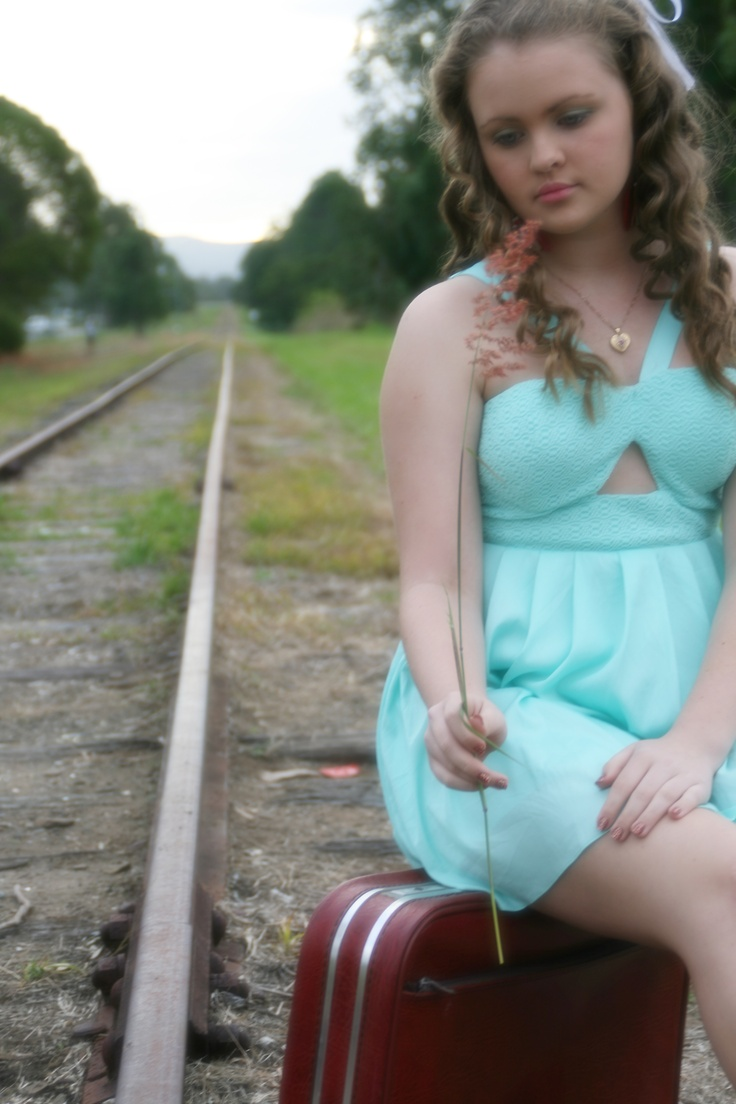 Another photo of Shayla taken at an old railway track.
