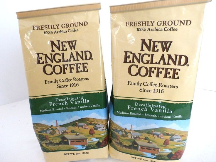NEW ENGLAND French Vanilla decaf coffee. Can't you just