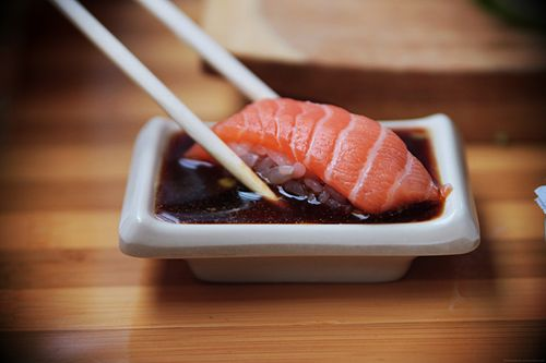 Hungry.: Freshwater Fish, Fit Girls, Easy Recipes, Soy Sauces, Salmon Sushi, Sushi Rolls, Crabs Rolls, Weights Loss, Sushi Parties