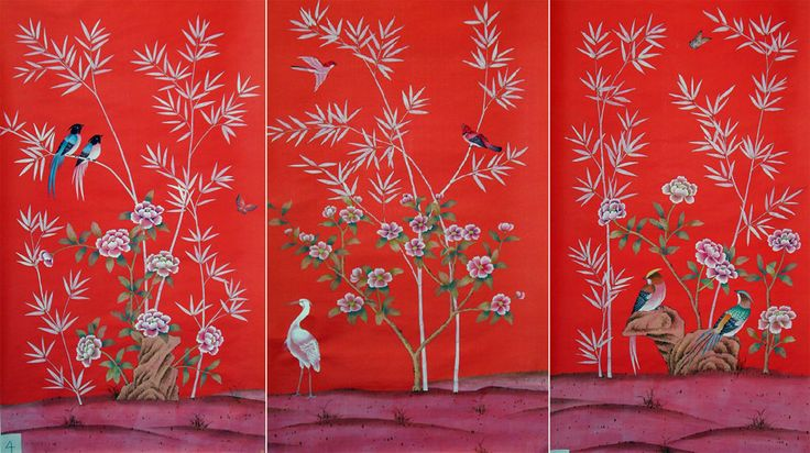 g+w collection :: chinoiserie mandalay garden, cherry red