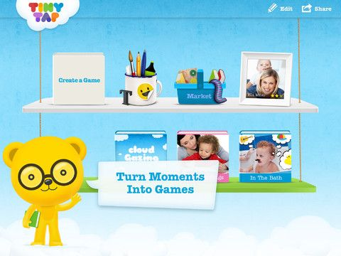 TinyTap, Moments Into Games by @TinyTap  is a free educational tool for kids, parents, and educators to create and share their own kids' games. #topkidsapps