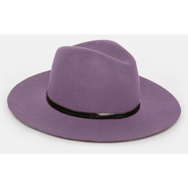 Catarzi Wide Brim Unstructured Fedora Hat ($23) ❤ liked on Polyvore featuring men's fashion, men's accessories, men's hats, purple, mens wool hat, mens wool fedora hats, mens wide brim hats, mens wide brim fedora hats and mens fedora hats