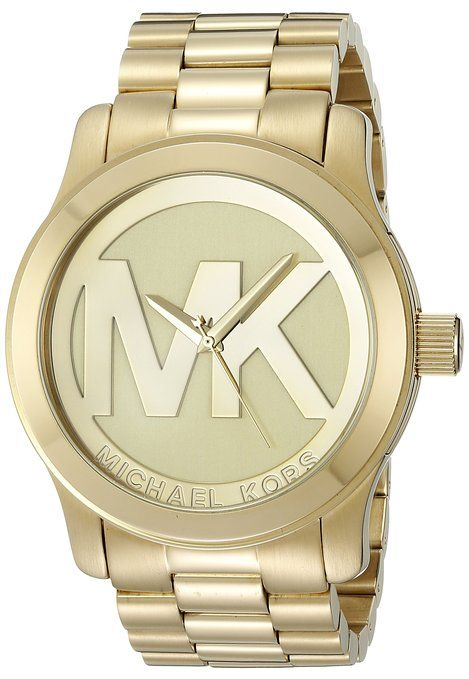 Michael Kors Women's MK5473 Runway Analog Display Analog Quartz Gold Watch