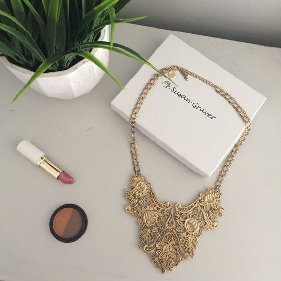 Boho Statement Necklace Fantastic statement necklace by Susan Graver Susan Graver Jewelry Necklaces
