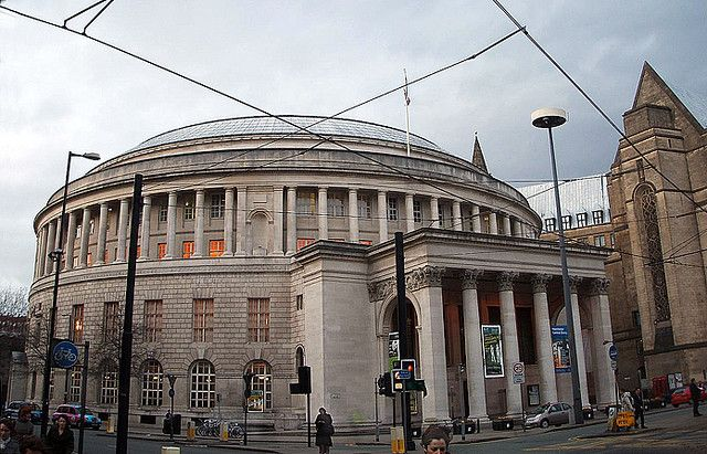 Manchester Central Library in Manchester, UK