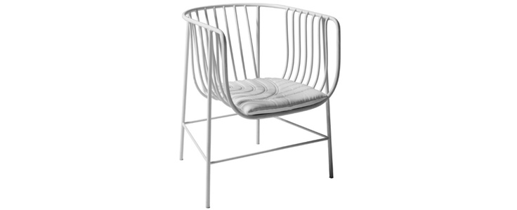 Cappellini - Sekitei - nice wire chair available also in black and without padding