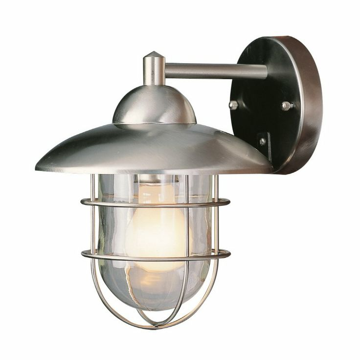 Portfolio 10 1 4 In Steel Stainless Outdoor Wall Mounted Light