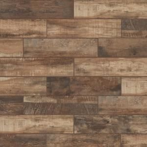 Lifeproof Autumn Wood 6 In X 24 In Porcelain Floor And Wall Tile 14 55 Sq Ft Case In