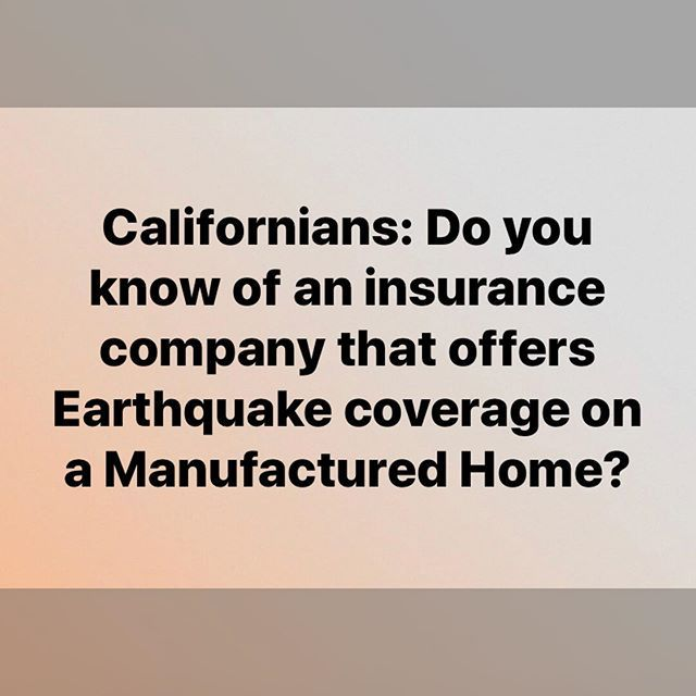 Earthquake Insurance Insuranceagent California Slo