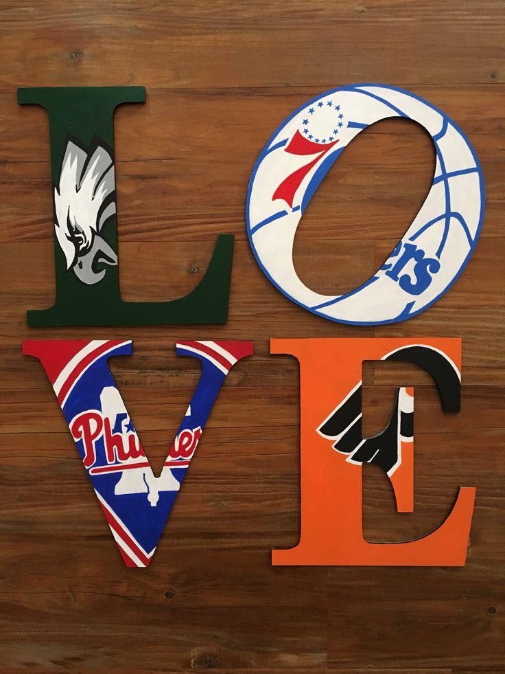 Philadelphia LOVE Wooden handpainted letters of your