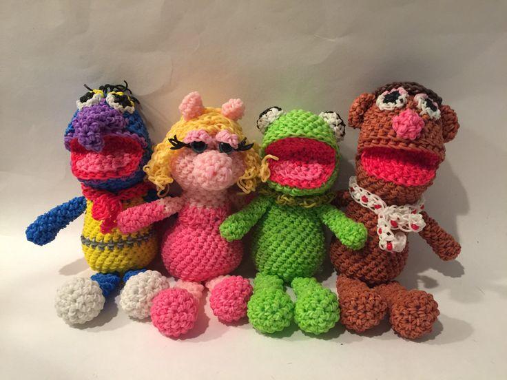 The Muppets Combo Play Pack Rubber Band Figures, Rainbow Loom Loomigurumi, Rainbow Loom Disney by BBLNCreations on Etsy  Loomigurumi Amigurumi Rainbow Loom