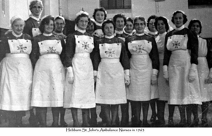 Hebburn St John's Ambulance Nurses in 1963.